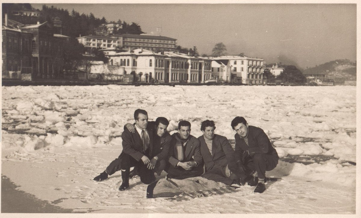 The Bosphorus was covered with ice in the winter of 1954.