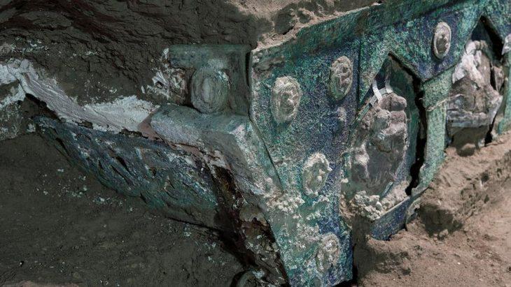 Ancient ceremonial chariot found in Pompeii