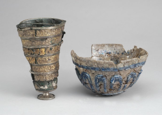 Beaker and bowl found in Uppåkra in southern Sweden.