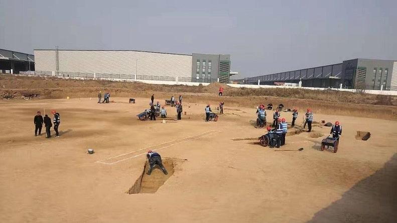 Xi'an Xianyang Uluslararası Havaalanı'ndaki arkeolojik site