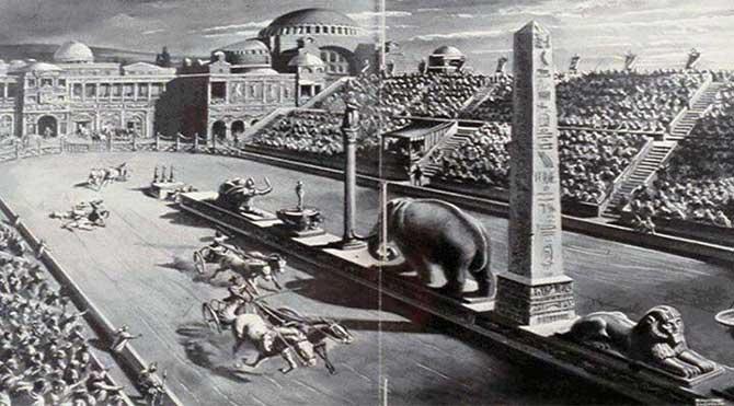 Byzantine Empire Constantinople. (Sultanahmet horse square)