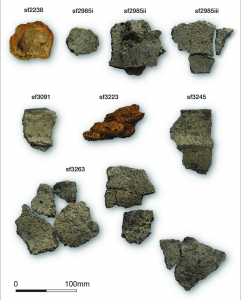 Fragments of tools for salt processing found at the neolithic site in North Yorkshire
