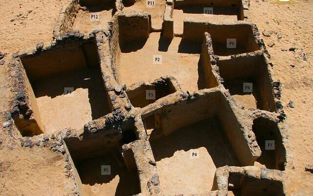 Tal Ganoub Qasr al-Agouz site in the Bahariya Oasis.