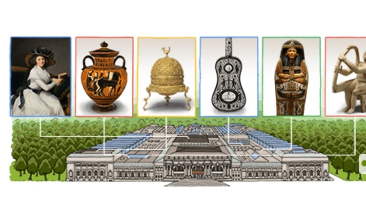 It made a doodle for the 151st anniversary of the Google Metropolitan Museum of Art.