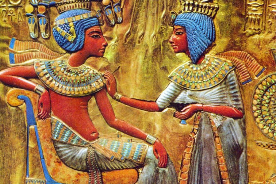 King tut and wife