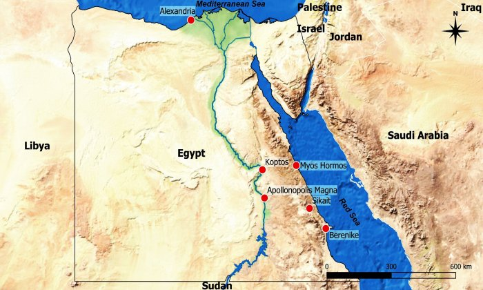 Location of Sikait in the Eastern Desert. University of Chicago