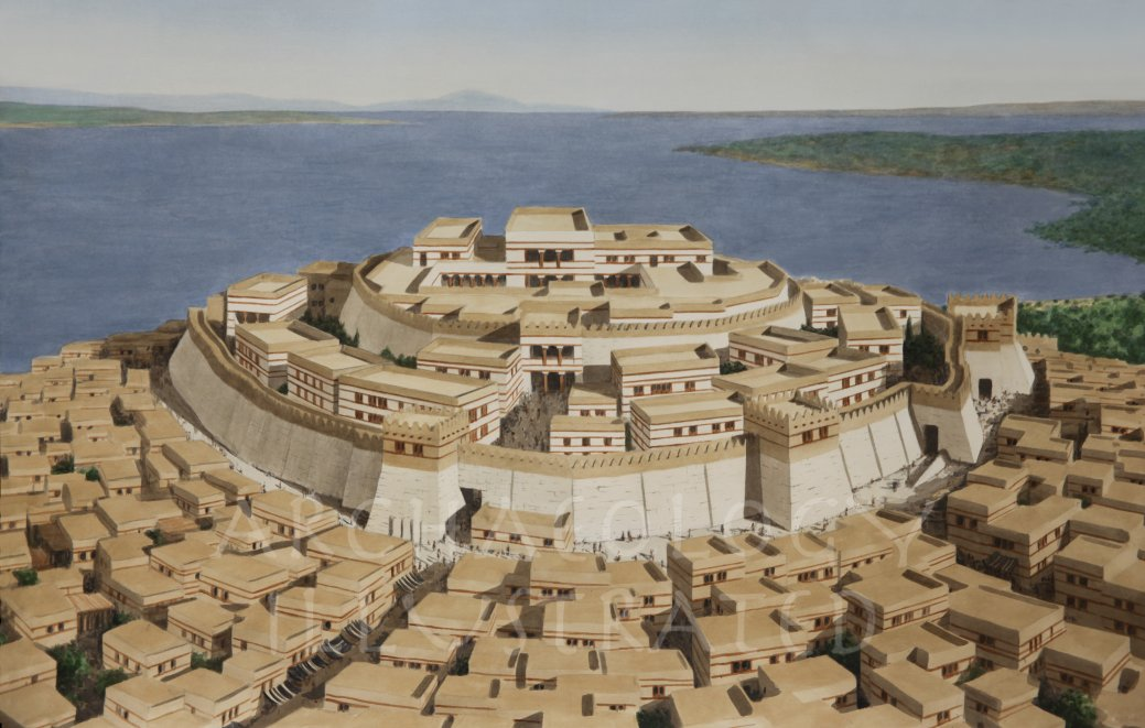 Reconstruction of the city of Troy
