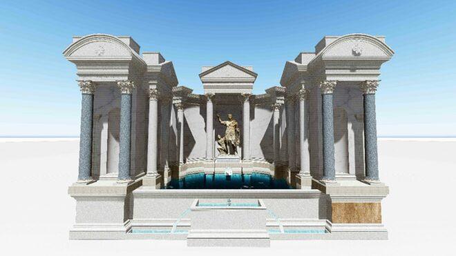 The Trian fountain