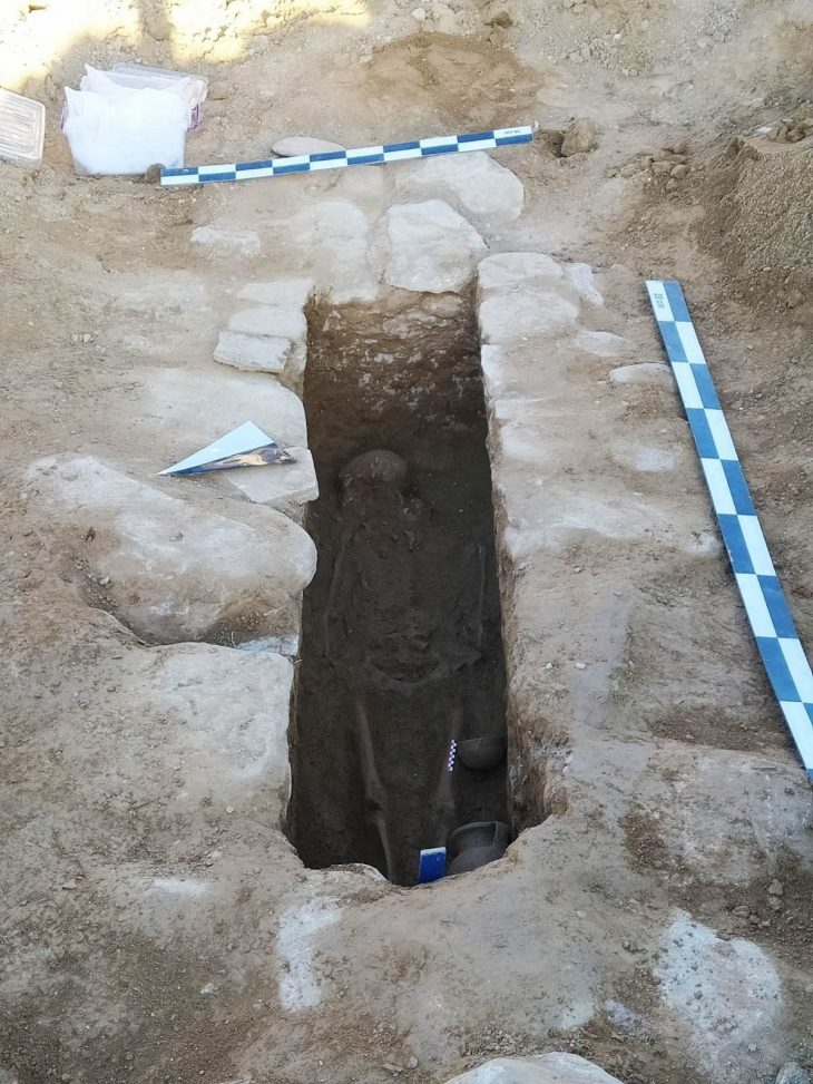 While plowing his field in Gölmarmara district of Manisa, a farmer found a sarcophagus from the Hellenistic Period.