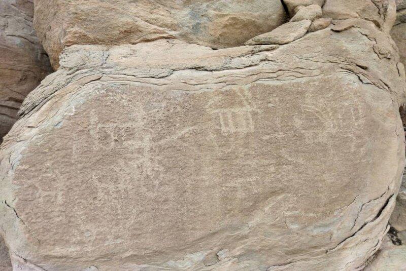 rock-carved petroglyphs