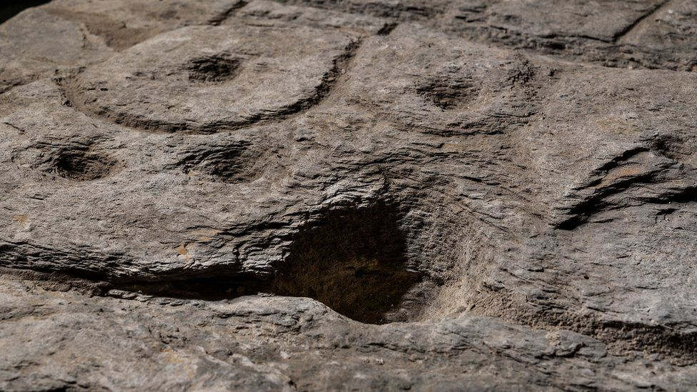 Markings on the rock are believed to depict an area of western Brittany.