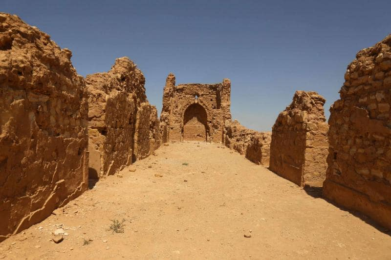 A view of the Al-Aqiser archeological site in Ain Tamr near Karbala in Iraq. (AFP)