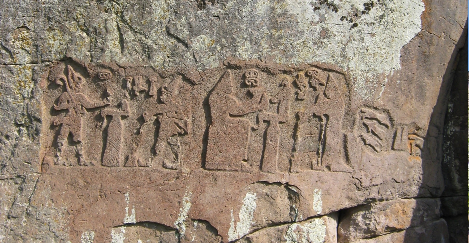 Hattuşili and her wife Puduhepa (Relief found in Fraktin)