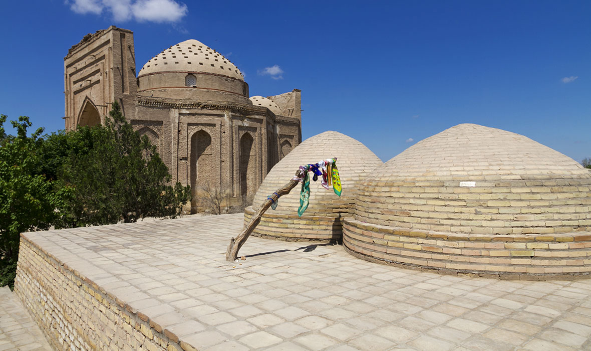 The ancient ruins of Kunya-Urgench, Najm ad-Din al-Kubra Mausoleum.