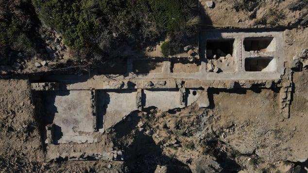 The Cape Trafalgar dig uncovered at least seven pools used for preserving food. Universidad de Cádiz - LABAP