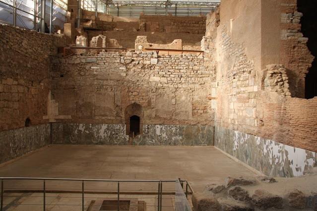 the ancient Roman villa in Ephesus