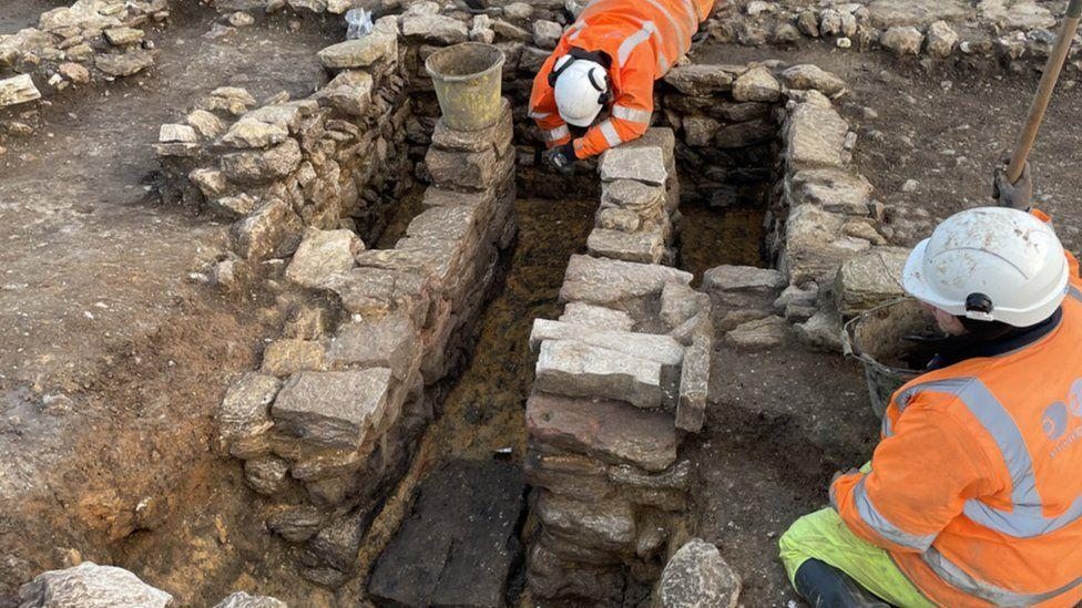 A corn drying oven was discovered among buildings at a Roman settlement