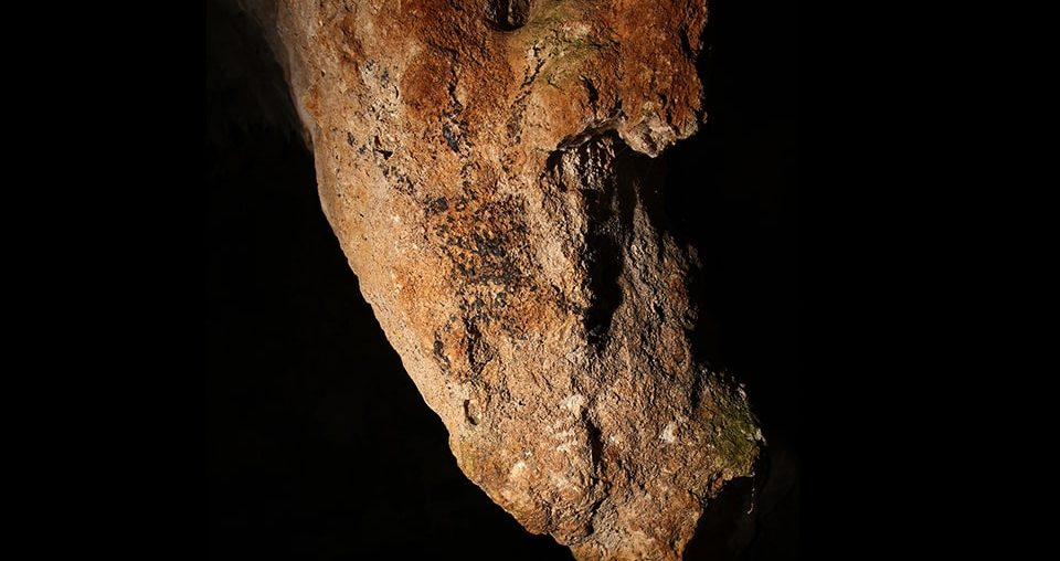 Anthropomorph from Hermoso Tuliao cave in the Philippines. Photo by Mark D. Willis.