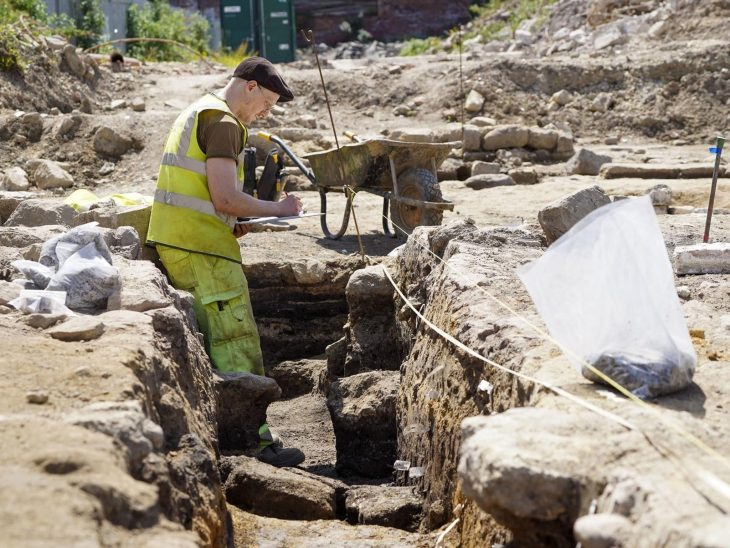 The archaeological dig at Mill Dam Lane, Pontefract. Pic: Scott Merrylees