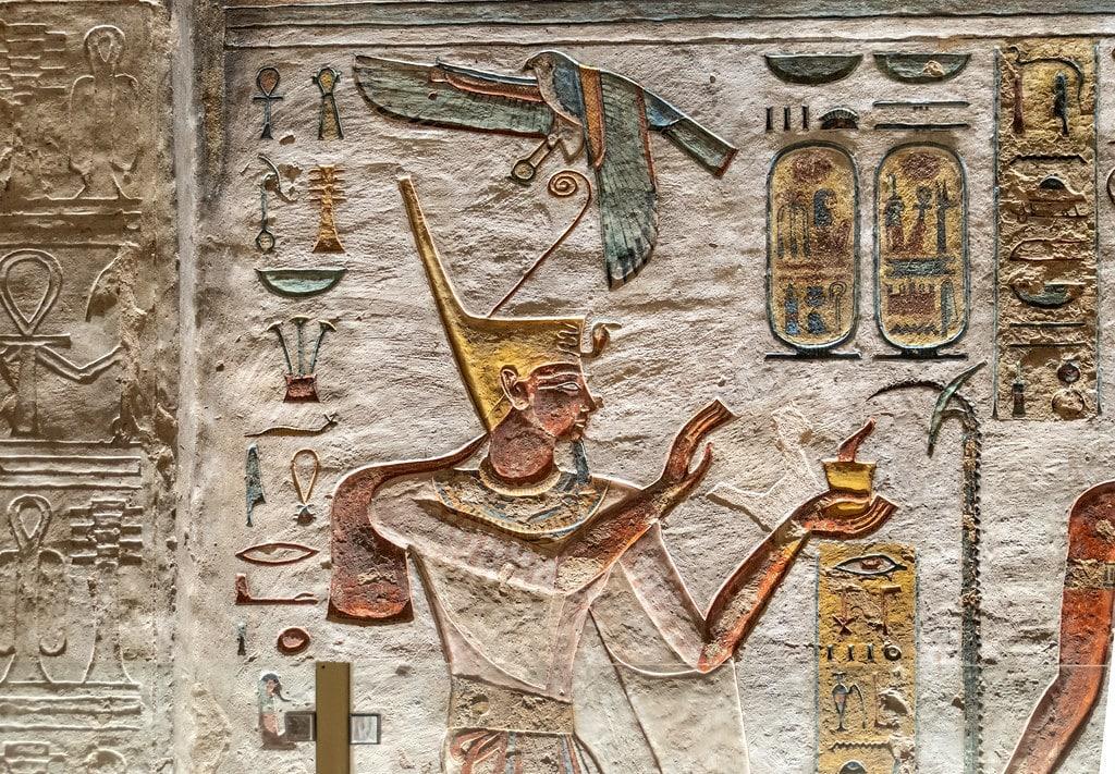 Tomb of Ramses III, Chamber D1, left wall.
