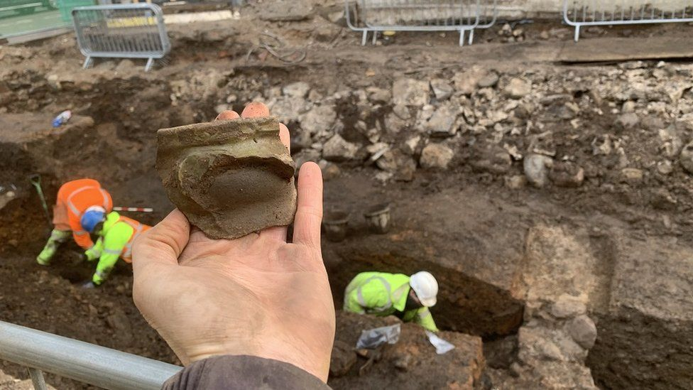 Other artefacts found included medieval pottery