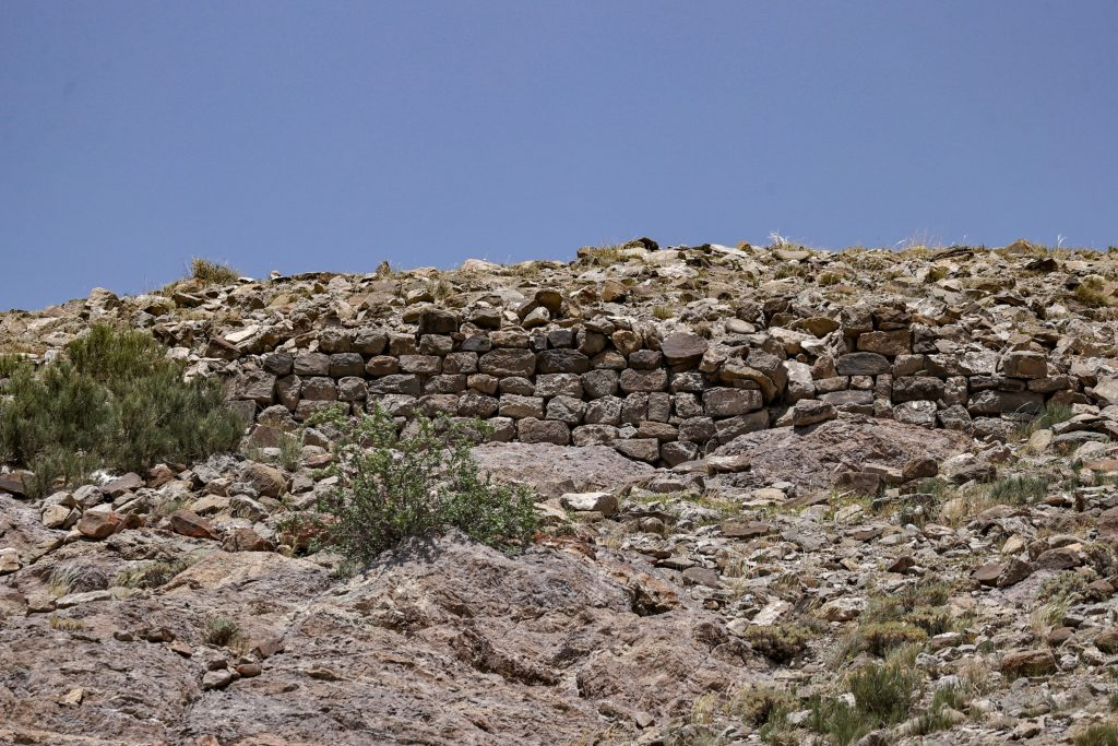 Remains of newly discovered castle walls.