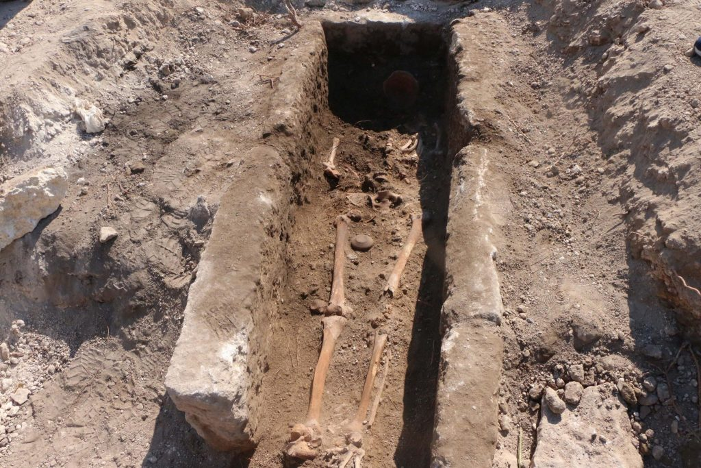 The 1000-year-old tomb unearthed in the Ancient City of Perre PHOTO: DHA