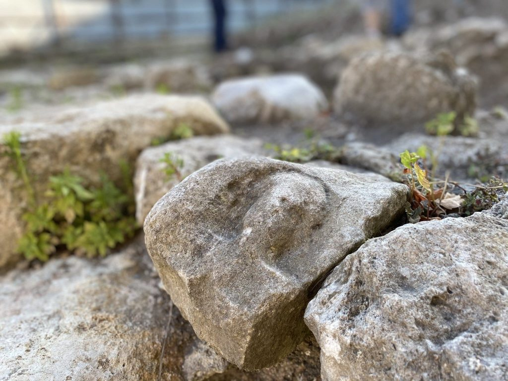 Human relief from the Eastern Roman period was found in the Milion stone excavation site.