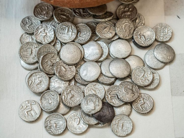 The coins, minted and circulated in Mleiha, were inspired by the coins of Alexander the Great and his Seleucid dynasty successors.