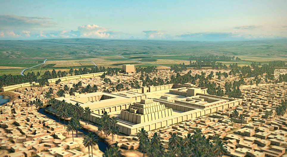 The city of Ur reconstruction