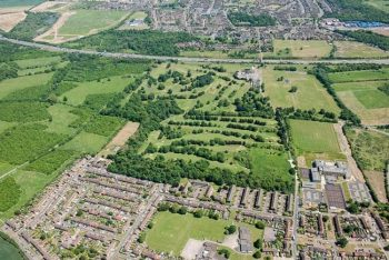 Under a golf course, the ruins of Tudor and Jacobean gardens were unearthed.
