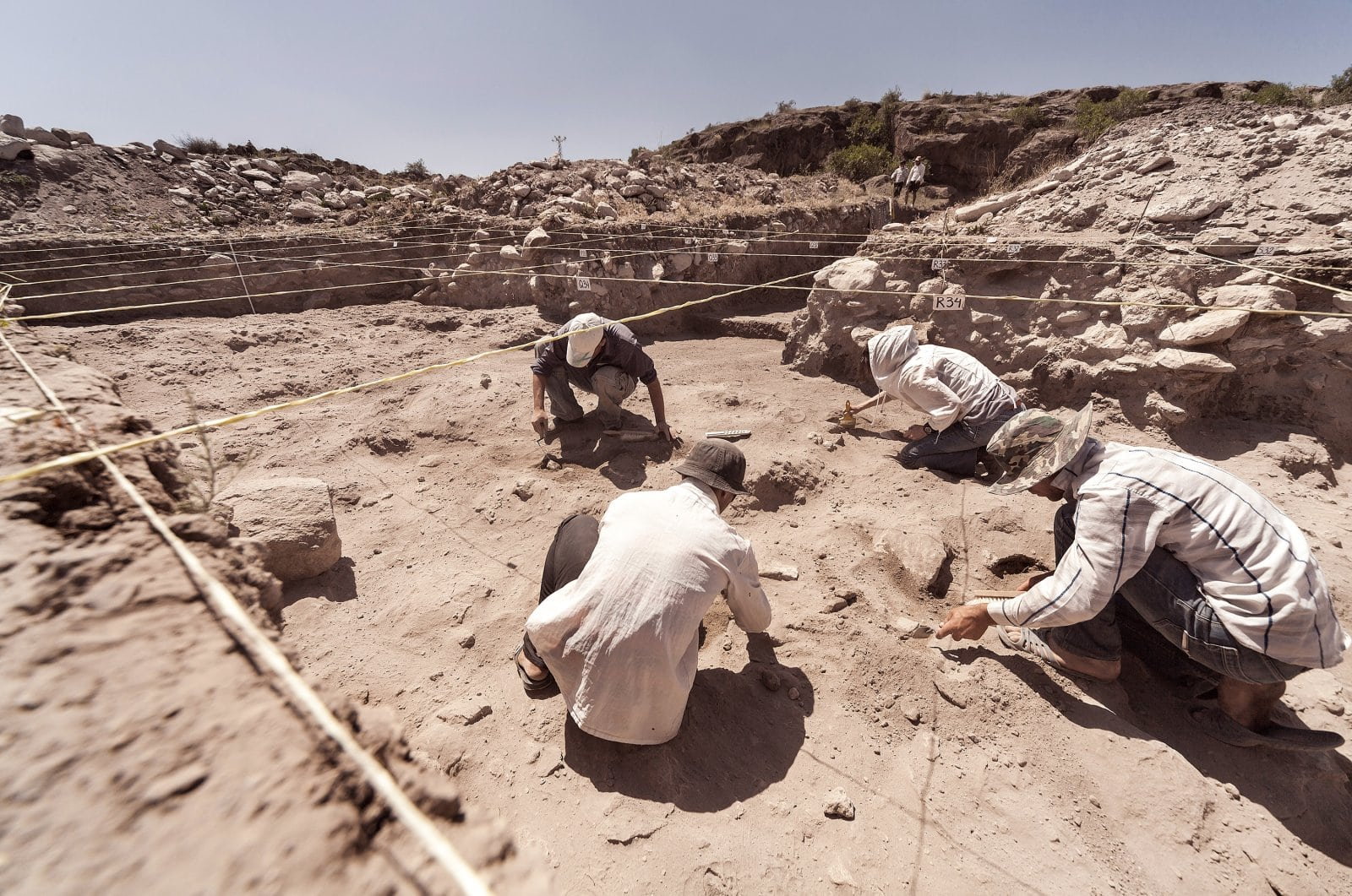 archaeologist working dig.