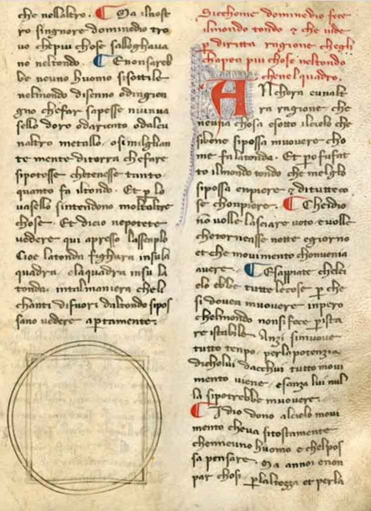 A medieval scholar working in Florence found handwritten writings thought to have been written by Dante in libraries around Italy.