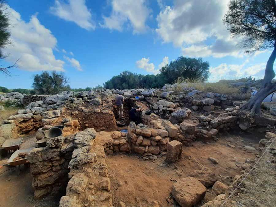 The excavation area at the Son Catlar fortress where the Roman artifacts were discovered.                Source: University of Alicante
