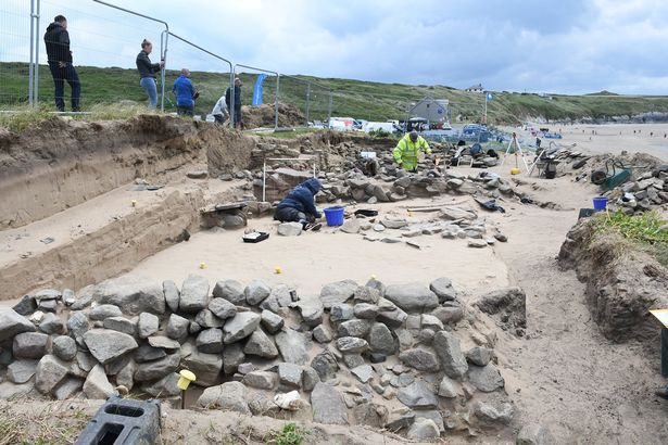 The discovery was made at Whitesands Bay in Pembrokeshire (Image: Nick Bolton)