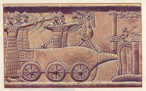 When the Assyrians attacked a city, they usually used three methods. These; demolishing the city or castle gates with rams, climbing the walls by leaning a ladder against the wall, and demolishing the walls with diggers.