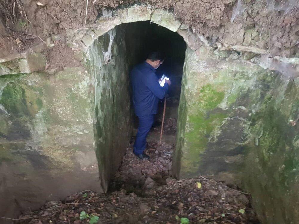 Hand-dug passageway