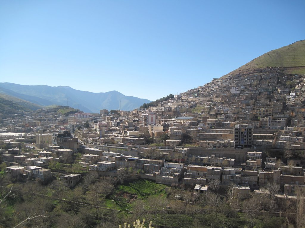 General view from Paveh district of Kermanshah province in western Iran.