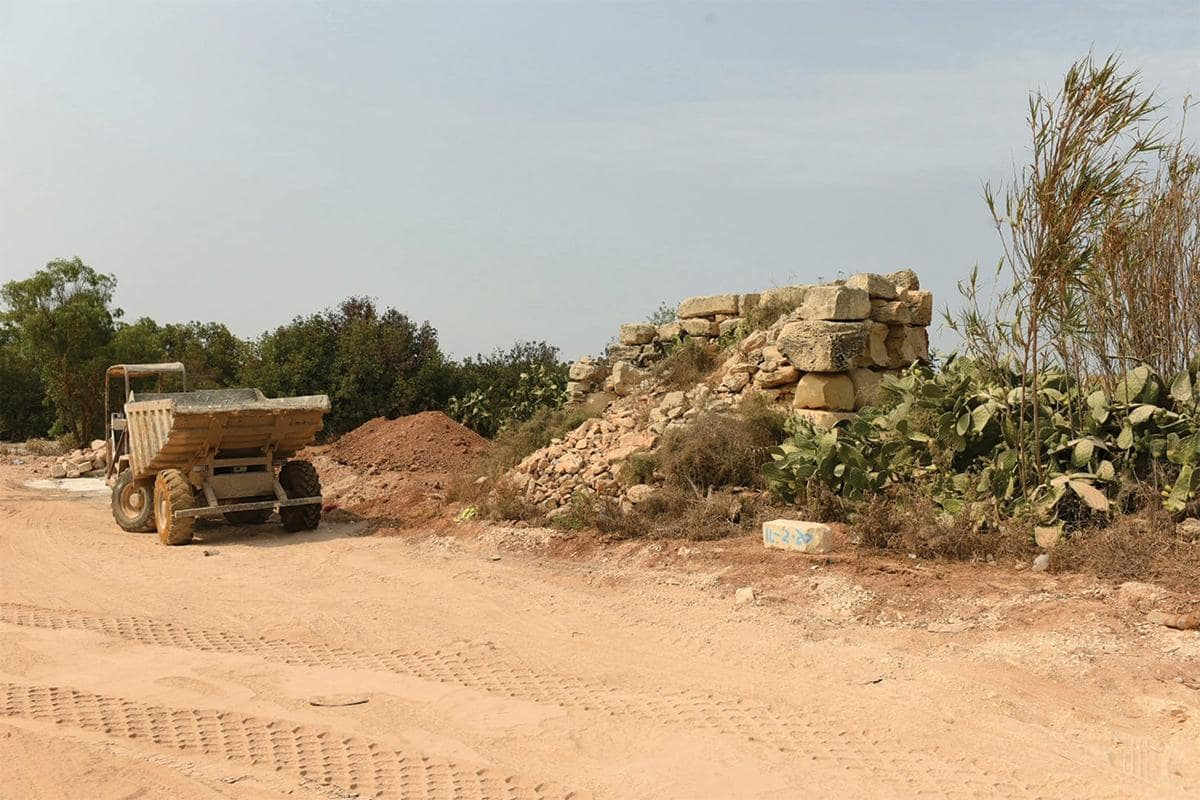 The Tal-Wilga tower, one of Malta's Punic-Roman heritage sites, is in danger from construction work near it.