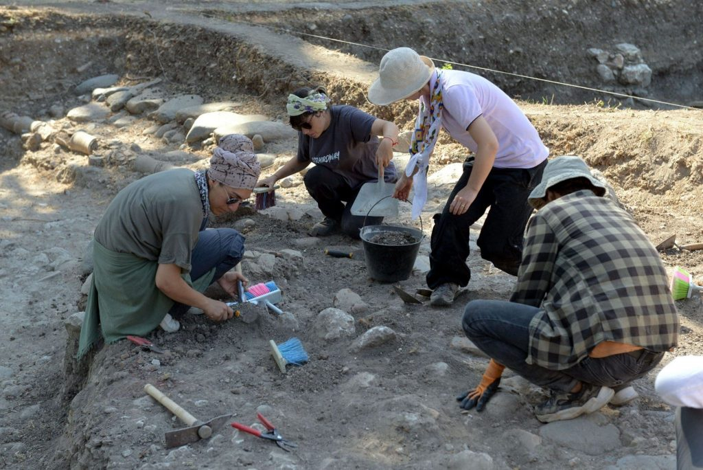 The foundations are being unearthed in the hippodrome excavation, which is the subject of the movie Ben-Hur. Photo DHA