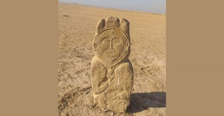 A 1,300-year-old stone sculpture from the early Turkish period was discovered in Kazakhstan's south, around 250 kilometers (155 miles) from Turkistan.