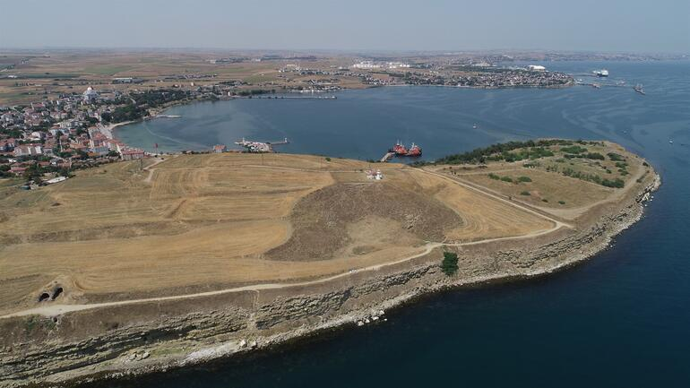 A general view from the theater area in the ancient city of Perinthos, Tekirdağ, northwestern Turkey. (AA Photo)