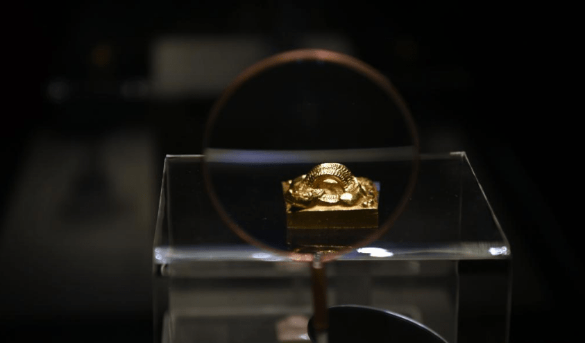 One of the relics displayed at the National Museum of China in Beijing, August 10. /Xinhua