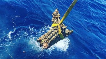 The 200kg bronze battering rams were used to destroy Carthaginian ships RPM NAUTICAL FOUNDATION