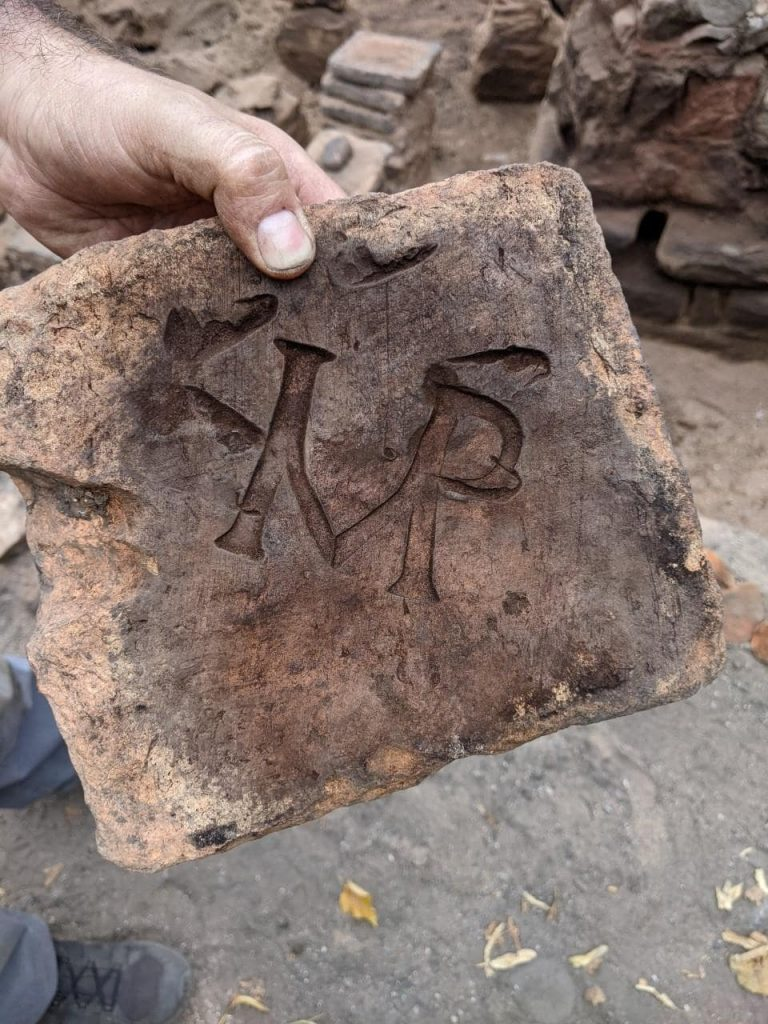 Archaeologists say the IMP stands for imperator, Latin for emperor. Photo: DR DOT BOUGHTON