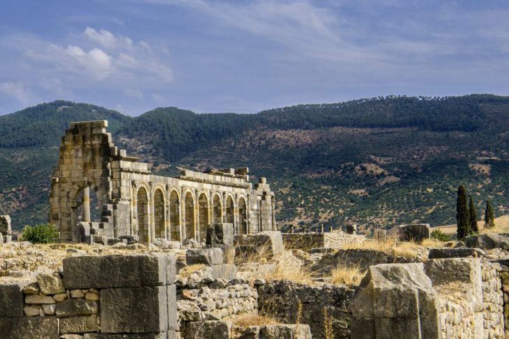 The ruins of Volubilis, a city in Morocco that was part of the Roman Empire. Photo: Sergio Morchon/ Flickr