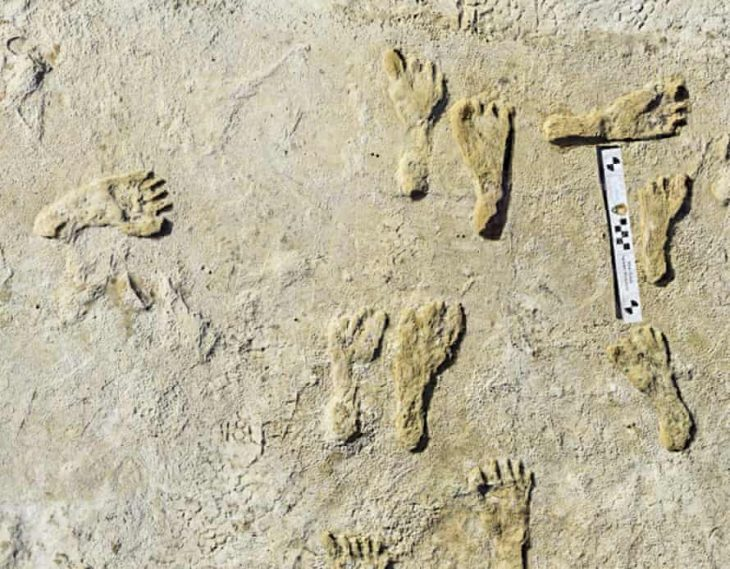 White Sands National Park Human Footprints