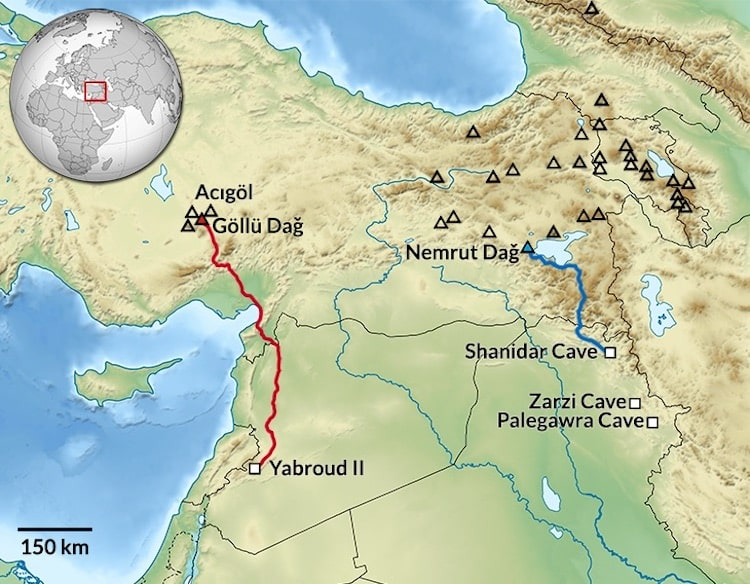The 40,000-Year-Old Obsidian Tool Found in Syria Was Brought From Central Anatolia.