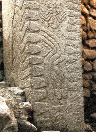 Snake reliefs of Göbeklitepe.