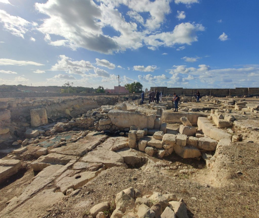 Remains of another Neolithic structure discovered at Tas-Silġ (Photo: Heritage Malta)
